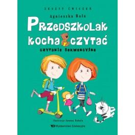 Przedszkolak kocha czytać Czytanie sekwencyjne Zeszyt ćwiczeń
